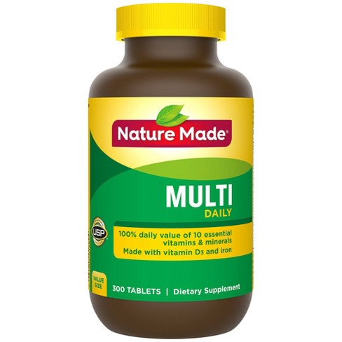 Nature Made Daily Multivitamin Dietary Supplement Tablets - 300ct - image 1 of 3
