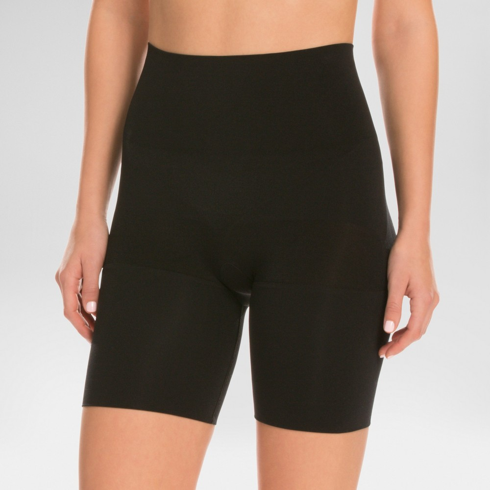 Assets by Spanx Women's Remarkable Results Mid-thigh Shaper - Black XL