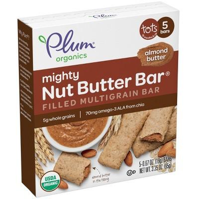Plum Organics Mighty Nut Almond Butter Bar - 5ct/0.67oz Each