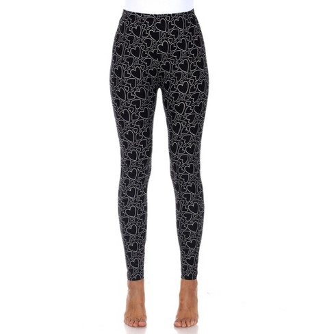 Women's Super Soft Midi-Rise Printed Leggings - One Size Fits Most - White Mark - image 1 of 3
