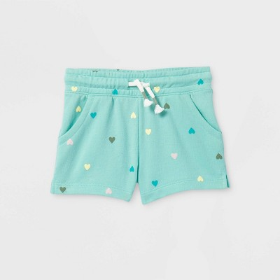 Toddler Girls' Knit Pull-On Shorts - Cat & Jack™ Teal 4T