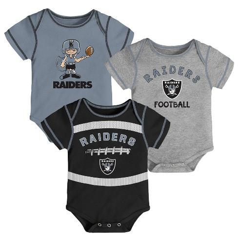 NFL Oakland Raiders Baby Boys' Newest Fan 3pk Bodysuit Set - image 1 of 4