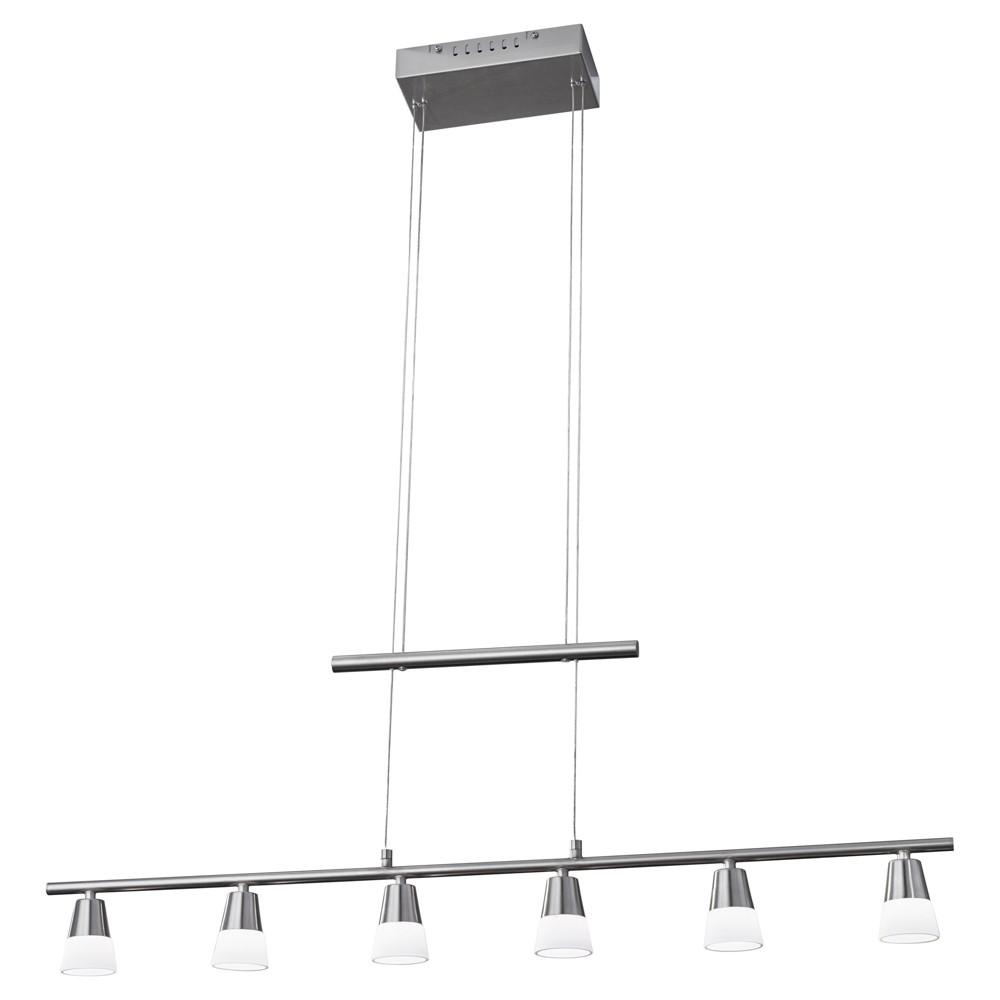 Adesso Aerial Led 6 Light Pendant Lamp - Silver