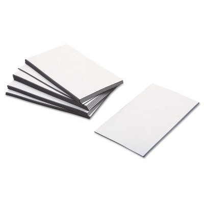 Baumgartens Business Card Magnets 3 1/2 x 2 White Adhesive Coated 25/Pack 66200