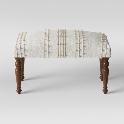 Textured Large Ottoman Neutral with Tassel - Opalhouse™