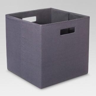 "13"" Fabric Cube Storage Bin Gray - Threshold™"