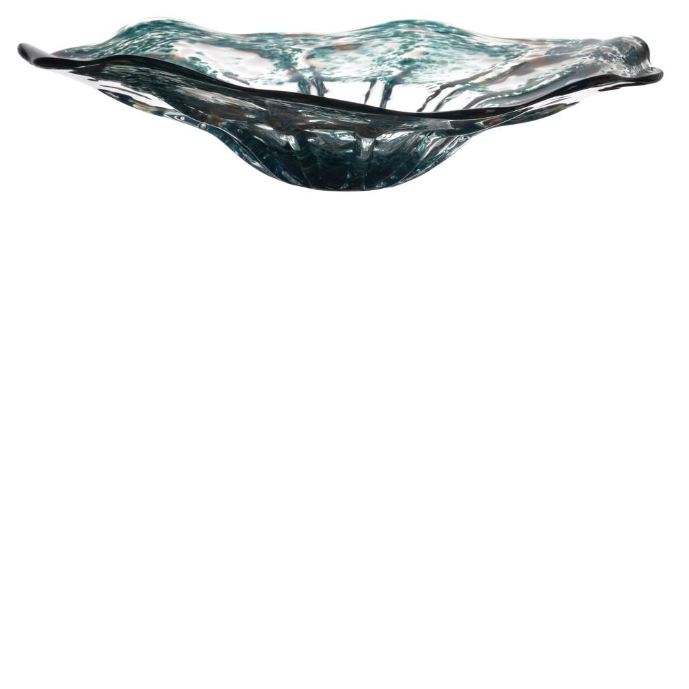 Surge Decorative Plate - AB Home Inc., Blue