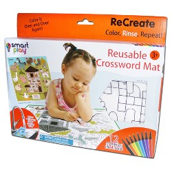 Smart Play Recreate-large Reusable Animal Alphabet Coloring Mat Alphabet & Language