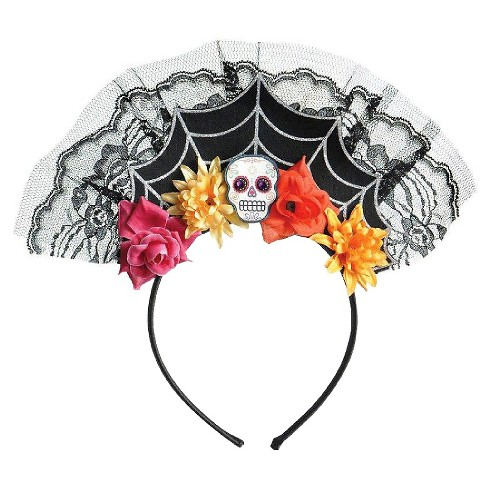 Women's Day of the Dead Spiderweb Headband - image 1 of 1