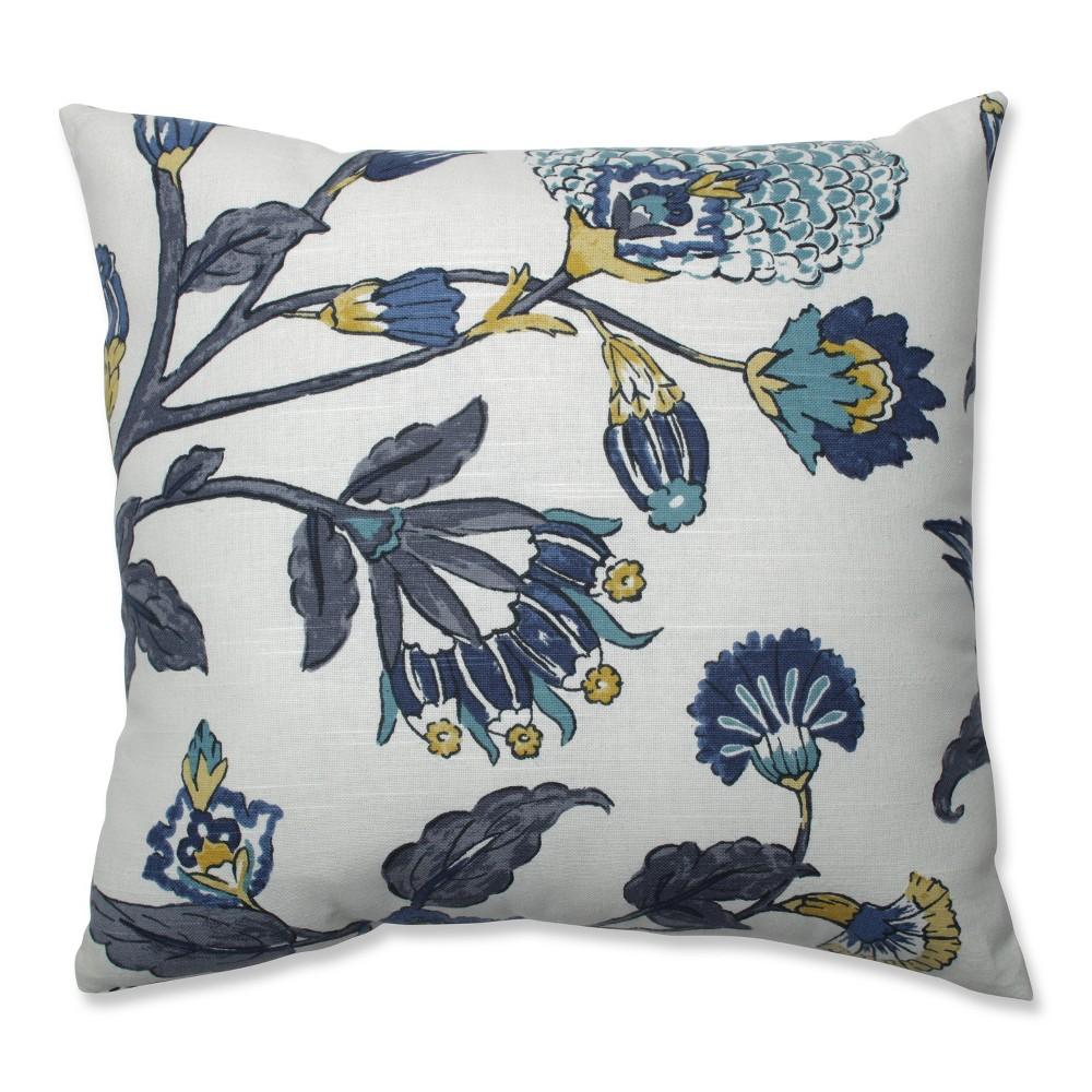 Auretta Peacock Square Throw Pillow Gray - Pillow Perfect