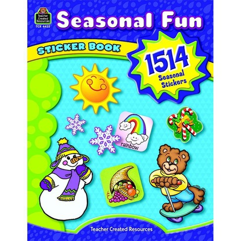 Teacher Created Resources Seasonal Fun Sticker Book, Grade PreK - 8, set of 1514 - image 1 of 1