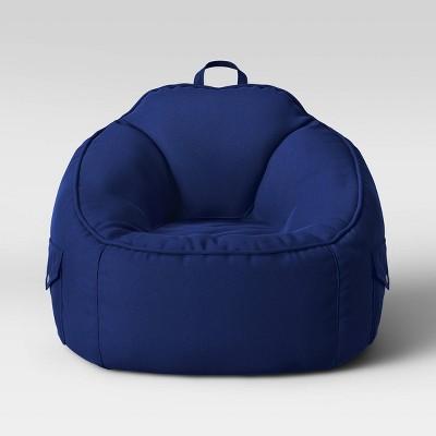 Canvas Bean Bag Chair Navy - Pillowfort™