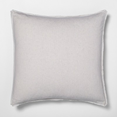 Euro Pillow Sham Linen Blend Jet Gray - Hearth & Hand™ with Magnolia
