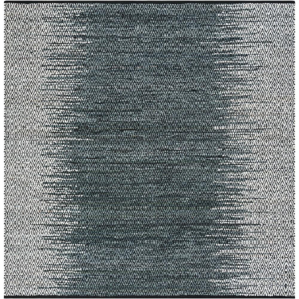 6X6 Geometric Woven Square Area Rug Light Gray/Charcoal - Safavieh Compare