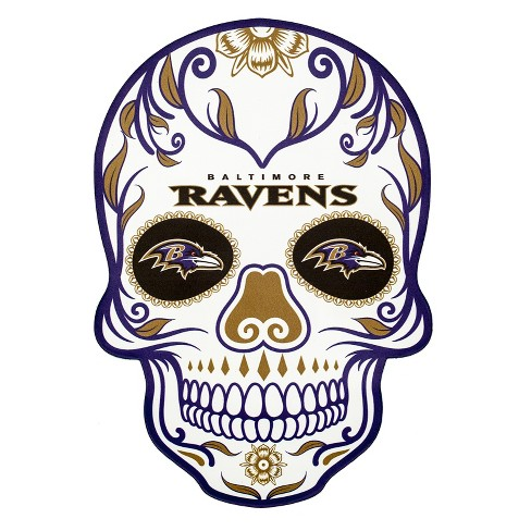 NFL Baltimore Ravens Small Outdoor Skull Decal - image 1 of 2