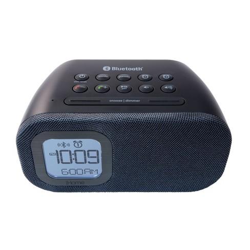 iHome Bluetooth Bedside Dual Alarm Clock - Black
