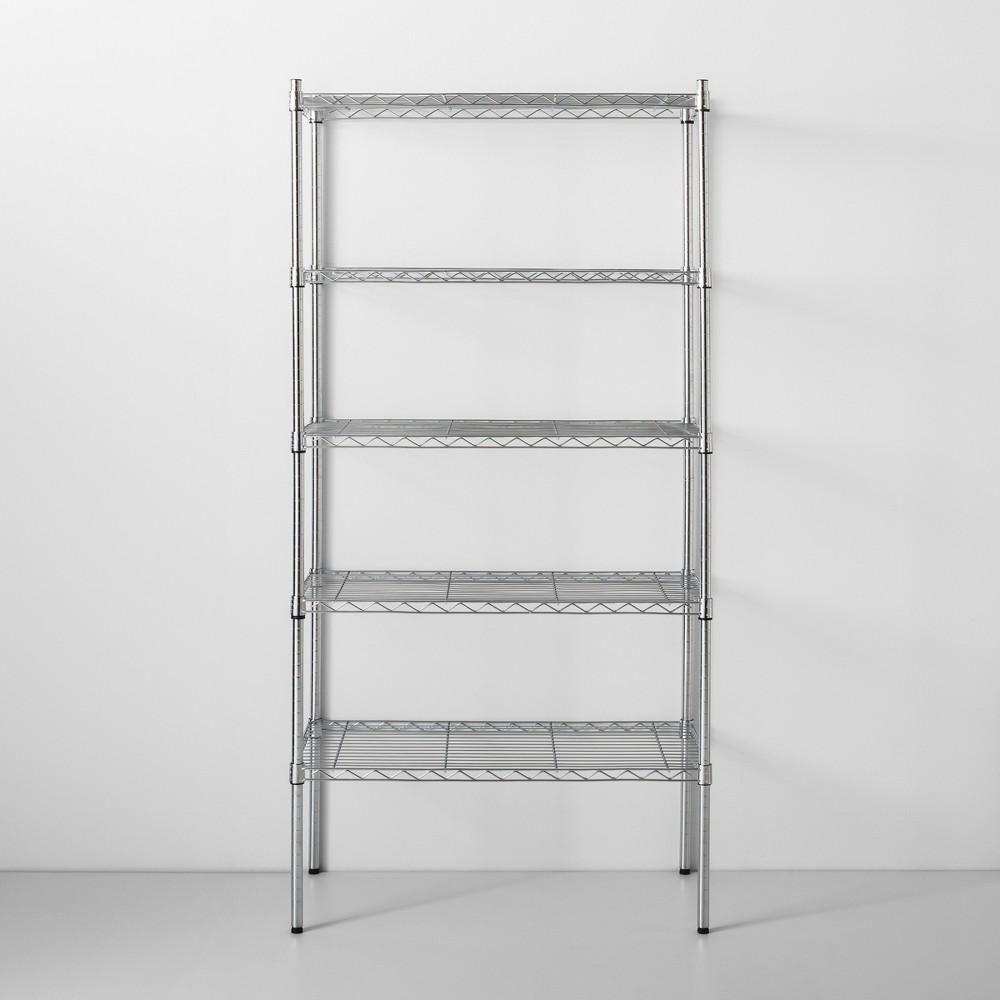 Image of 5 Tier Wire Shelf Chrome - Made By Design