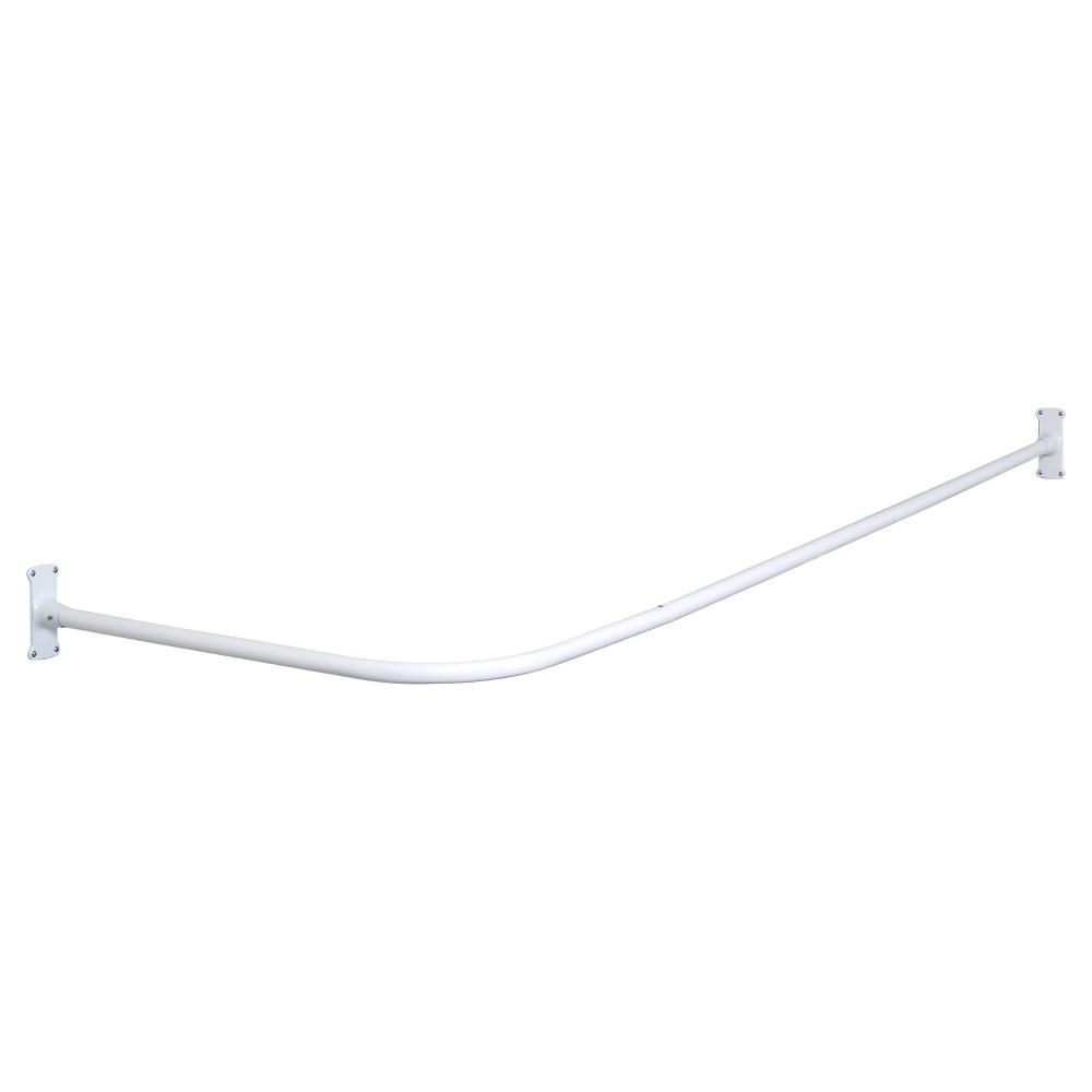 L-Shaped Aluminum Shower Rod White - Zenna Home