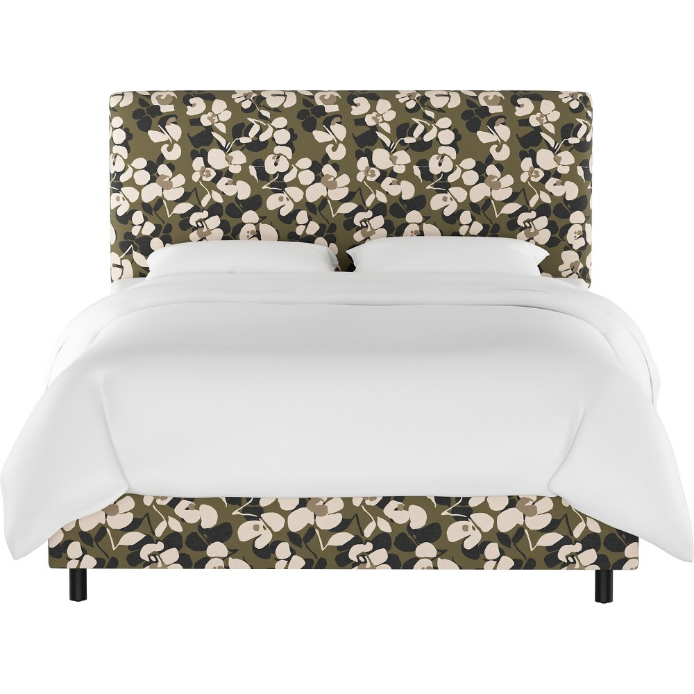 Full Olivia Upholstered Bed Neutral Floral - Cloth & Co.