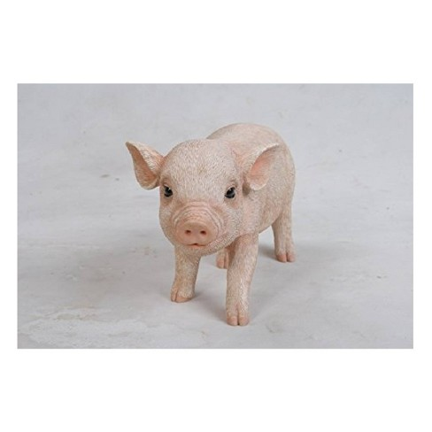 """5"""" Polyresin Standing Baby Pig Statue Pink - Hi-Line Gift - image 1 of 1"""