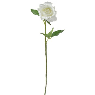 """Allstate Floral 21.5"""" White Rose Artificial Spring Craft Pick"""