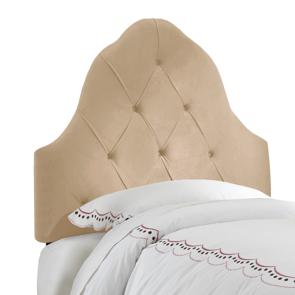 Skyline Carly Tufted Headboard - Skyline Furniture, Ivory