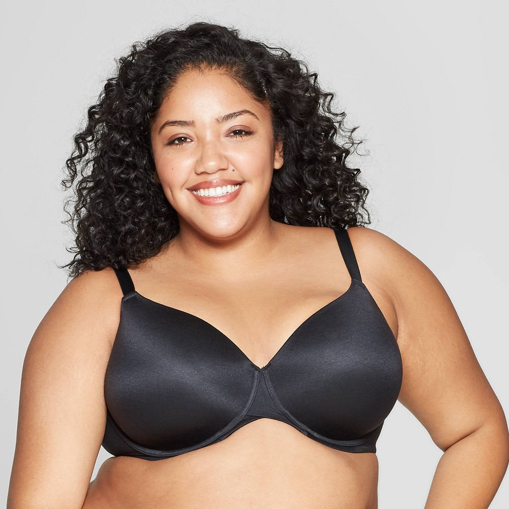 Women's Plus Size Superstar Lightly Lined T-shirt Bra - Auden - Black 42G