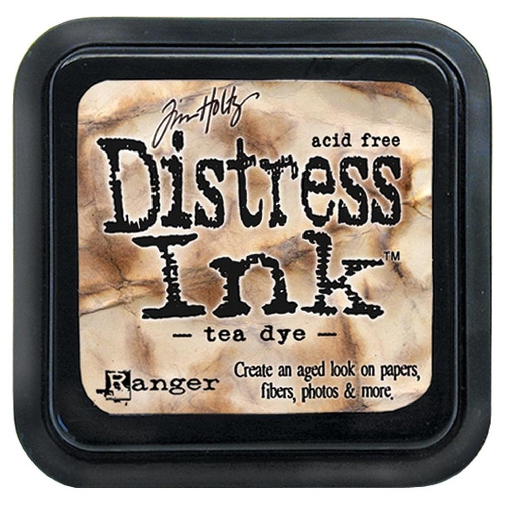 Tim Holtz Distress Ink Pad-Tea Dye 2.25x2.25, Tea Dye