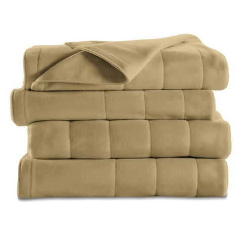 Quilted Fleece Electric Blanket (Twin) Acorn - Sunbeam®   Target e2892cdd7