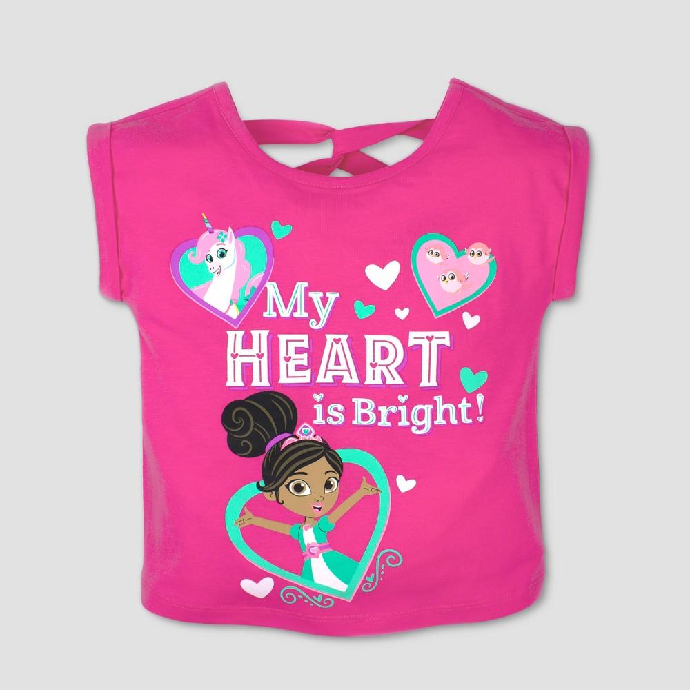 Toddler Girls' Nickelodeon Nella the Princess Knight Short Sleeve T-Shirt - Pink 18M