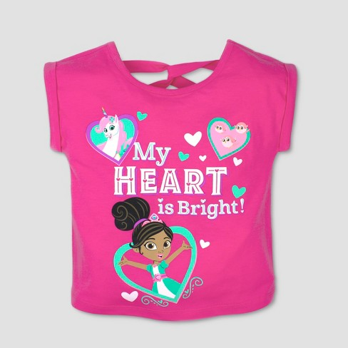 Toddler Girls' Nickelodeon Nella the Princess Knight Short Sleeve T-Shirt - Pink - image 1 of 1