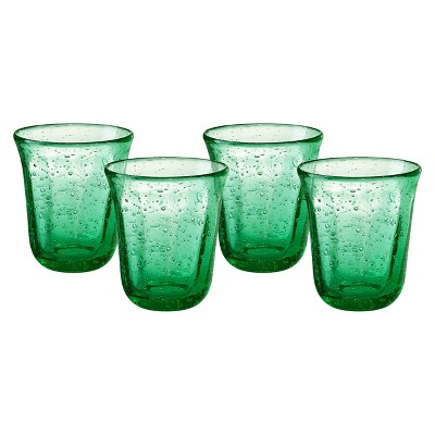 Artland Savannah 10oz 4pk Double Old-Fashioned Glasses Green