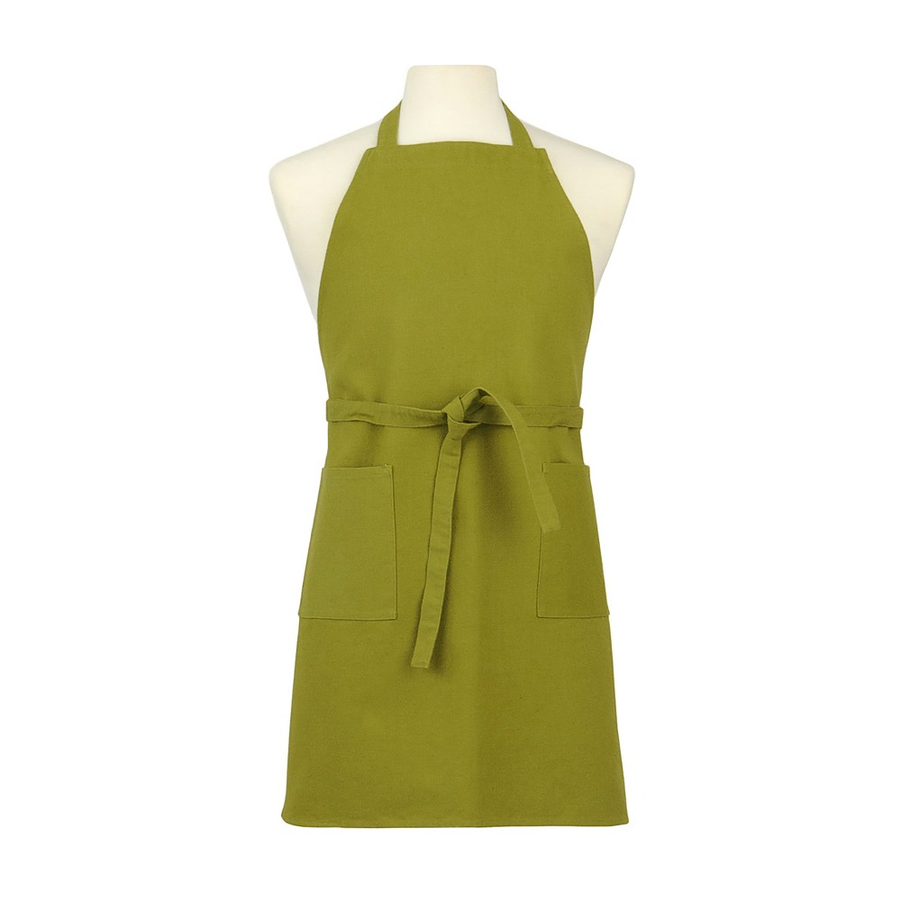 Green Two Pocket Lime Cotton Canvas Chef's Apron - Asd Living