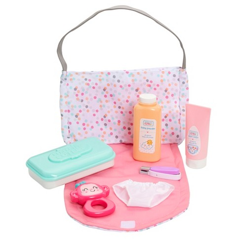 Perfectly Cute Just Like Mommy Baby Doll Diaper Bag Set With Accessories