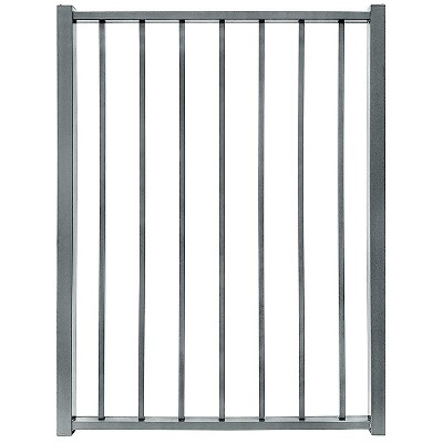 Stratco SC-10763 Outdoor Powder Coated Metal 3 Feet 2 Inches x 4 Feet Ezi-Fence Picket Fence Panel Easy Installation Fence in a Box System, Gray
