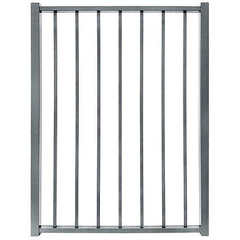 Stratco SC-10763 Outdoor Powder Coated Metal 3 Feet 2 Inches x 4 Feet Ezi-Fence Picket Fence Panel Easy Installation Fence in a Box System, Gray - image 1 of 2