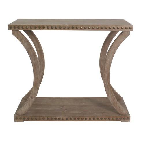 Brilliant Haider Riveted Console Natural Oak Carolina Chair And Table Machost Co Dining Chair Design Ideas Machostcouk