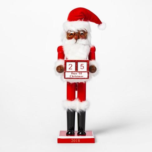 "14.1"" Decorative Christmas Nutcracker Santa Claus Countdown - Wondershop™ : Target"