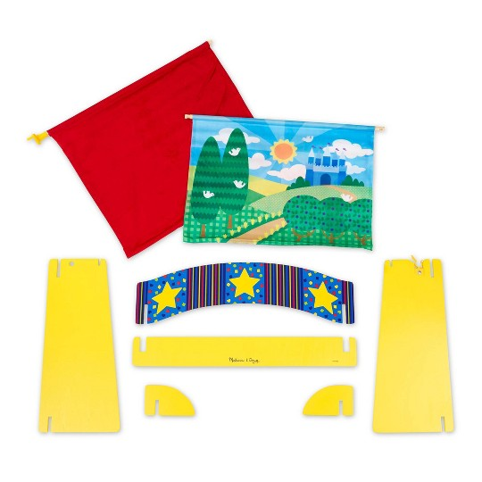 Melissa & Doug Tabletop Puppet Theater - Sturdy Wooden Construction image number null