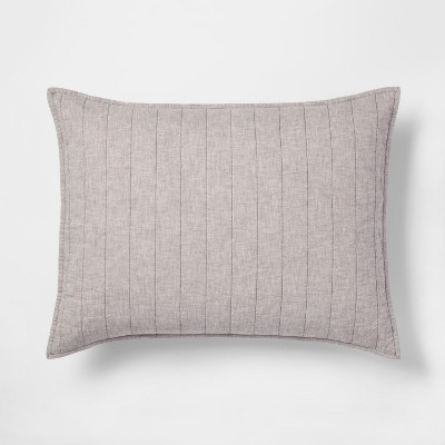 Gray Chambray Linen Blend Sham (Standard)- Threshold™