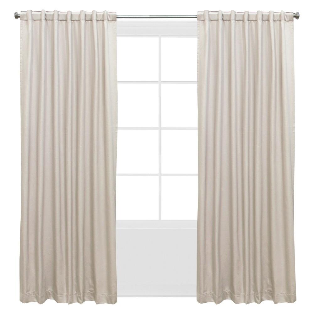 Shantung Window Curtain Panels Off-White (Beige) (50