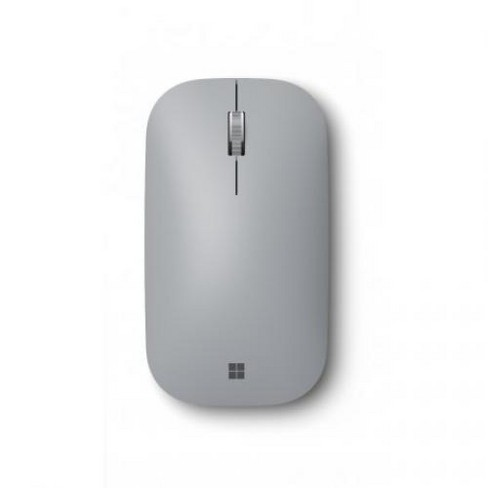 Microsoft Surface Mobile Mouse Platinum - Wireless - Bluetooth - Seamless scrolling - Light & portable - BlueTrack enabled - image 1 of 3