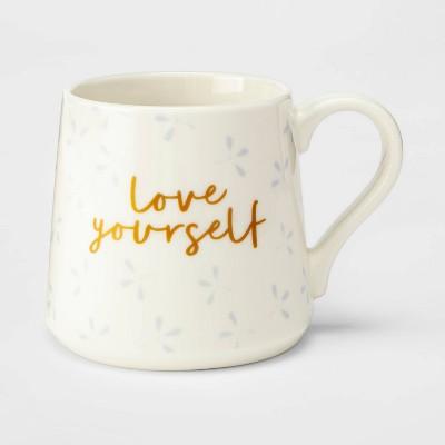 16oz Porcelain Love Yourself Mug Cream - Threshold™