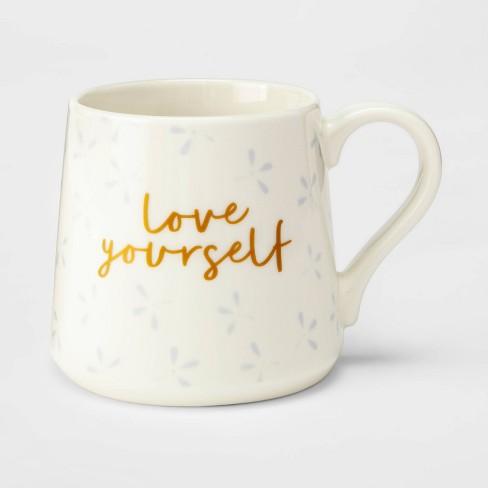 16oz Porcelain Love Yourself Mug Cream - Threshold™ - image 1 of 1