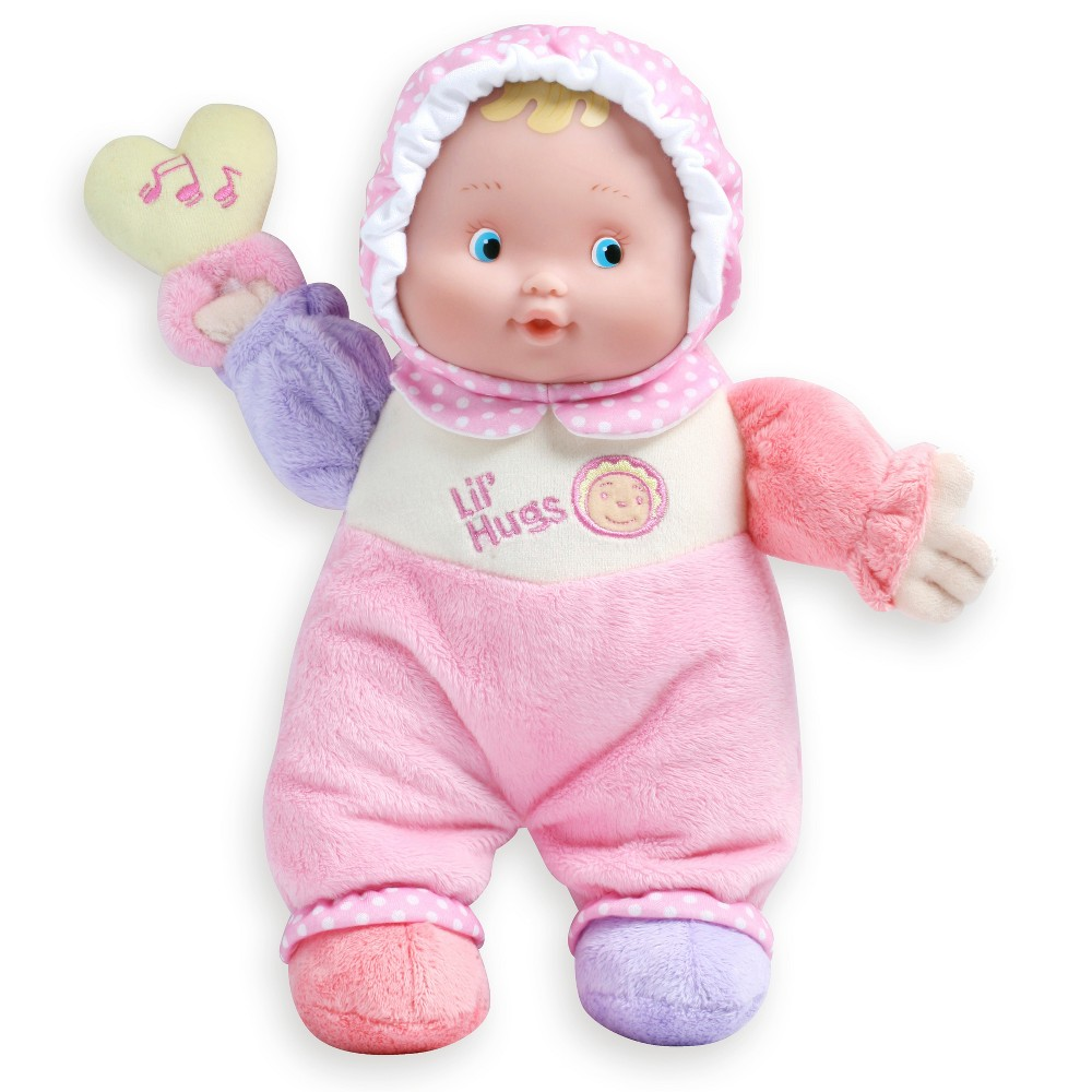 JC Toys Lil' Hugs Soft Body Your First Baby Doll Designed by Berenguer - Pink
