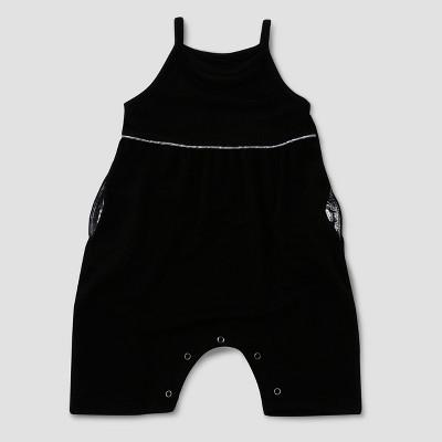 Baby Girls' Afton Street Sleeveless Romper - Black 0-3M