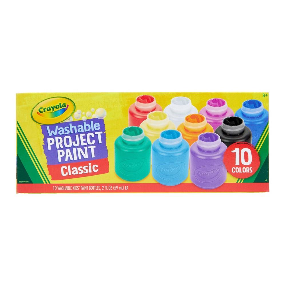 Crayola 10ct 2oz Washable Kids Paint Classic Colors