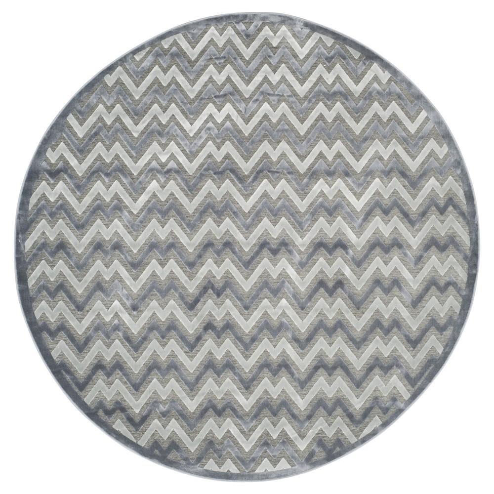 Eva Area Rug - Light Gray / Dark Gray (6' 7 Round) - Safavieh
