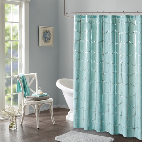 Arielle Printed Metallic Shower Curtain - image 1 of 2