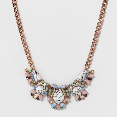 SUGARFIX by BaubleBar Mixed Media Statement Necklace